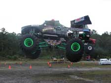 Amsoil sponsored monster frankenstein truck